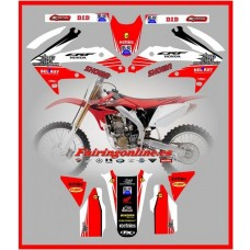 honda c reed 22 team graphics 2005 2006 2007 2008 crf450r crf450