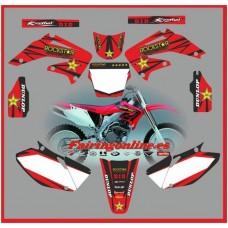 honda crf450 2002 2004 rockstar red
