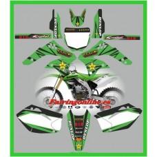kawasaki kxf450 2006 2008 rockstar green