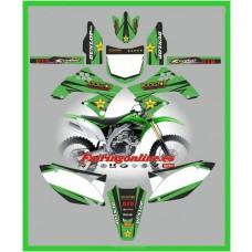 kawasaki kxf450 2009 2011 rockstar green