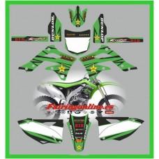 kawasaki kxf450 2012 rockstar green