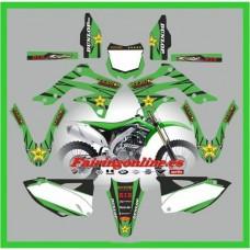 kawasaki kxf450 2013 rockstar green