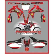 honda crf 450 2013 rockstar red decals graphics moto x rr