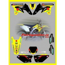 suzuki factory team graphics rmz250 07 08 2009