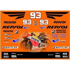 Moto GP 2009 FIAT EVO V.R Estoril Decal Set R1 R6