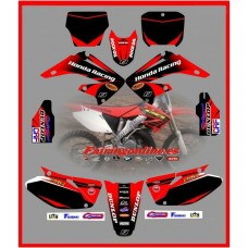 honda team cr125 cr250 black cr 2002 2008