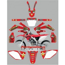 honda crf250 2004 2005 metal mulisha red