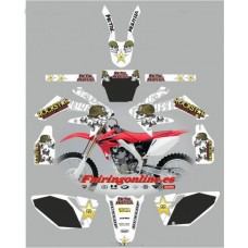 honda crf250 2004 2005 metal mulisha white
