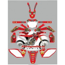 honda crf250 2006 2009 metal mulisha red