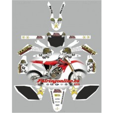 honda crf250 2006 2009 metal mulisha white