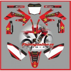 honda crf250 2006 2009 rockstar red