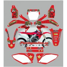 honda crf450 2005 2007 metal mulisha red