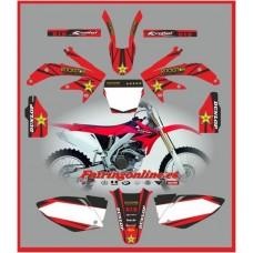 honda crf450 2005 2007 rockstar red