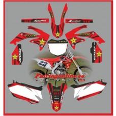 honda crf450 2009 2012 rockstar red