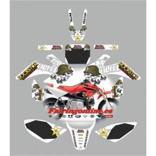 honda crf50 2004 2013 metal mulisha white