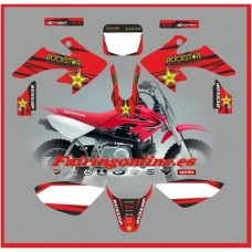 honda crf50 2004 2013 rockstar red