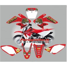 honda crf70 2007 2012metal mulisha red