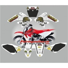 honda crf70 2007 2012metal mulisha white