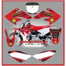 honda crf70 2007 2012 rockstar red