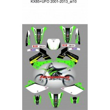 kawasaki kx85 ufo 2001 2013 monster