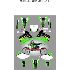 kawasaki kx85 ufo 2001 2013 monster