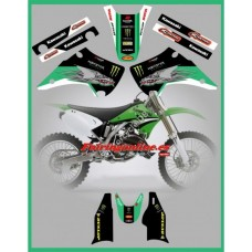 kawasaki 5th dragon graphics kx125 kx250 03 07