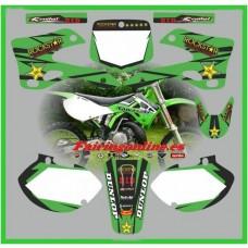 kawasaki kx125 250 1999 2002 rockstar green moto