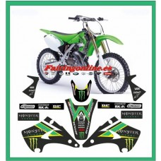 kawasaki team graphics kx125 kx250 2003 2004 2005 2006 2007