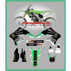 kawasaki 5th dragon team graphics kx250f 2006 2007 2008