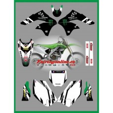 kawasaki  fac team graphics kx250f kxf250 2006 2008