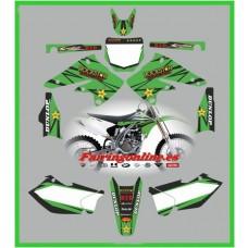 kawasaki kxf250 2004 2005 rockstar green