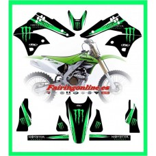 kawasaki team graphics kx250f kxf250 2006 2007 2008 kxf