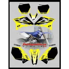 yamaha graphics yz125 2002 2011 yellow