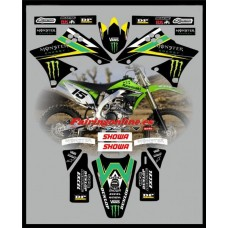 kawasaki team graphics kx450f kxf450 2009 2010 2011