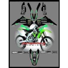 kawasaki team graphics klx450 klx klx450r moto