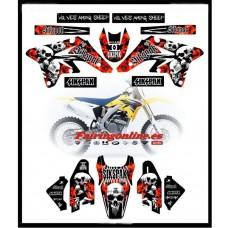 suzuki sikspak team graphics rmz250 2007 2008 2009