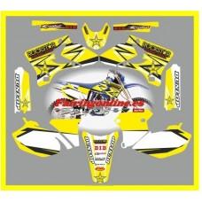 yamaha  rockstar yellow wr450f 2004