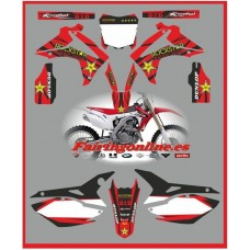 honda crf 450 2013 rockstar red decals graphics moto x rr