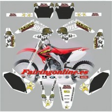 honda cr125 250 2002metal mulisha white