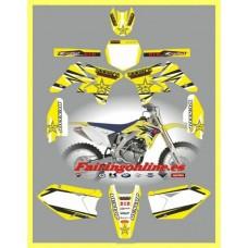 suzuki rmz250 2007 2009 rockstar yellow