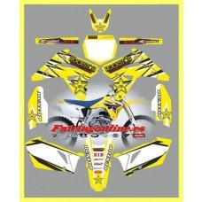 suzuki rmz450 2007 rockstar yellow