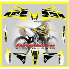 yamaha hurricane yellow graphics  yzf250 yzf450 06 07 08 09